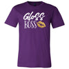 Gloss Boss (Gold lips) - Bella & Canvas - O-neck Unisex Short Sleeve Jersey Tee - 12 Colors Available Plus Size XS-4XL - MADE IN THE USA