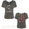 Wife/Mom/LipBoss (arrows) Lipsense 50 Shades Lip Color Swatches (Front & Back) Bella Brand Ladies Slouchy Tee Feminine Women T-shirt - 7 colors available PLUS Size S-2XL MADE IN THE USA
