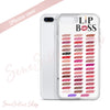 Lip Boss Kiss Lips - Lipsense 50 Lip Color Chart Swatches Cell Phone Case - iPhone