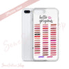 hello gorgeous - Lipsense Lip Color Chart Swatches Cell Phone Case - iPhone