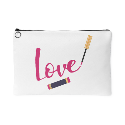 LOVE Lipsense Lipstick Swipe - Travel Makeup Accessory Cosmetic Tote or Money Bag Size: Small or Large