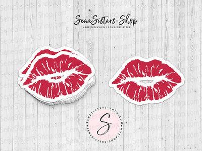 Lipsense Lip Color Strawberry Shortcake Lipstick Lips Kisses Laptop Decal Sticker
