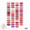 Lipsense 50 Lip Color Chart Lipstick Kisses Professional Prints - 3 Sizes
