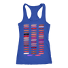 Lipsense 50 Shades Lip Color Swatches - Ladies Racerback Tank Top Women - 6 colors available - PLUS Size XS-2XL MADE IN THE USA