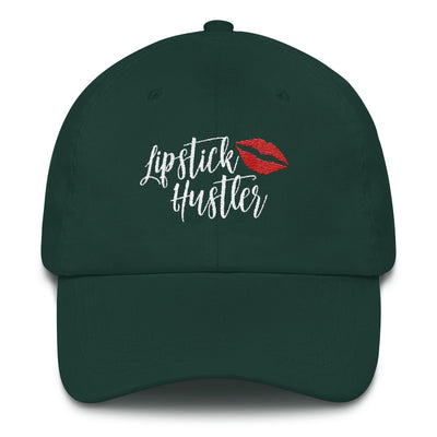 Lipstick hustler hat red lips kiss baseball cap 6 Colors Available - MADE IN THE USA