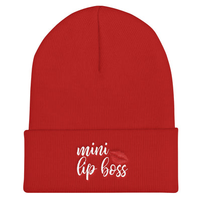mini lip boss Cuffed Beanie Cap Hat 5 Colors Available - MADE IN THE USA