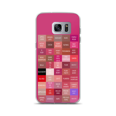 Lipsense Lipstick Lip Color Chart Blocks Phone Case - Samsung
