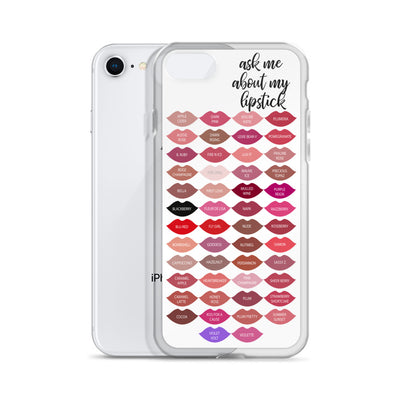 ask me about my lipstick Kisses - Lipsense Lip Color Chart LIPS Cell Phone Case - iPhone
