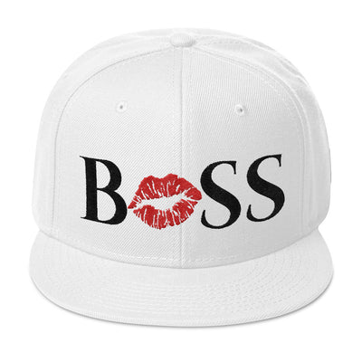 BOSS LIPS - (red lips) Snapback Hat baseball cap 6 Colors Available - MADE IN THE USA
