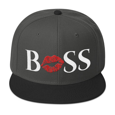 BOSS Lips (red lips) Snapback Hat baseball cap 18 Colors Available - MADE IN THE USA