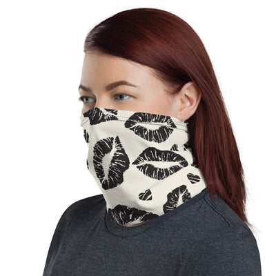 Black Lips Kisses Face Covering Mask or Headband