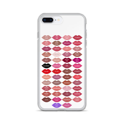 Lipsense Kisses Lipstick 50 Lip Color Chart LIPS Phone Case - iPhone