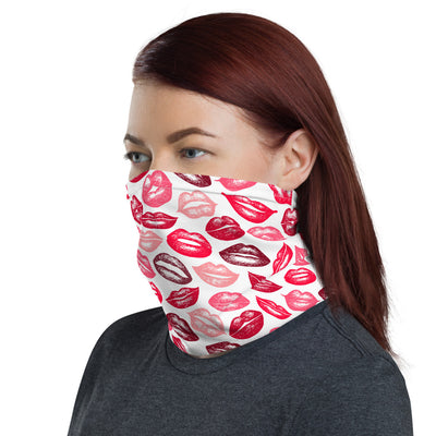 Lipstick Kisses Lips Face Covering Mask or Headband