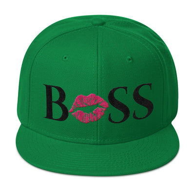 BOSS LIPS - (pink lips) Snapback Hat baseball cap 6 Colors Available - MADE IN THE USA