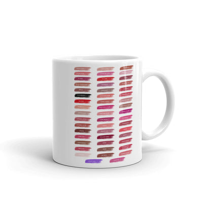 Lipsense 50 Lip Color Chart Swatches Coffee Cup Mug 11oz & 15 oz