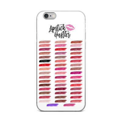 Lipstick Hustler - Lipsense 50 Lip Color Swatches Phone Case - iPhone