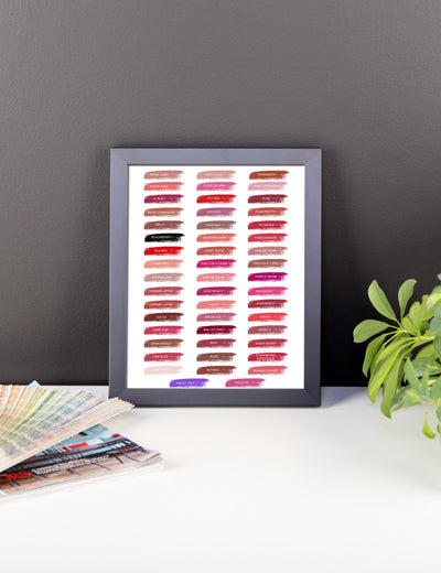 Lipsense 50 Lip Color Swatches Framed poster