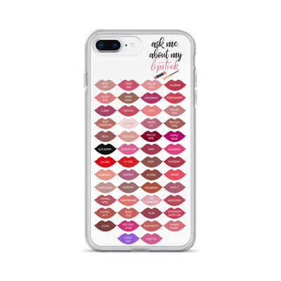 ask me about my lipstick (tube/wand) - Lipsense 50 Lip Color Chart Kisses LIPS Cell Phone Case - iPhone