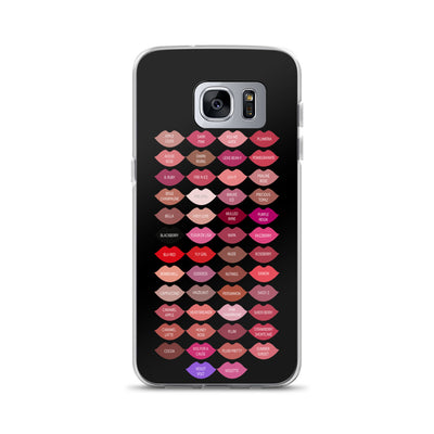premium selection 83915 97220 Lipsense 50 Lipstick Lip Color Chart Kisses Lips Black Cell Phone Case -  Samsung