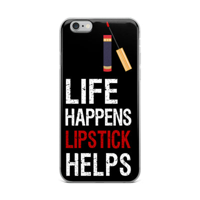 Life Happens Lipstick Helps - Lipsense (tube/wand) -  Cell Phone Case - iPhone