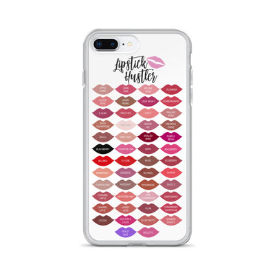 Lipstick Hustler Kisses - Lipsense 50 Lipstick Color Chart LIPS Phone Case - iPhone