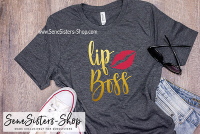 Lipboss (GOLD) - Bella & Canvas - Lip boss O-neck Unisex Short Sleeve Jersey Tee - 12 Colors Available Plus Size XS-4XL - MADE IN THE USA