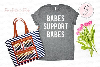Babes Support Babes - Bella & Canvas - O-neck Unisex Short Sleeve Jersey Tee - 12 Colors Available Plus Size XS-4XL - MADE IN THE USA