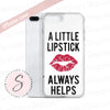 A Little Lipstick Always Helps - Strawberry Shortcake Red Lips Kiss on White Background Cell Phone Case - iPhone