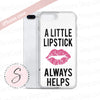 A Little Lipstick Always Helps - Fleur de Lisa PINK Lips Kiss on White Background Cell Phone Case - iPhone