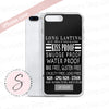 Lipsense Lip Color Product Description Words on Black Cell Phone Case - iPhone