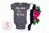 My mom is a Lip Boss - Baby Onesie - 7 Colors AVAILABLE Size: Newborn - 24M - Infant Jersey Bodysuit - MADE IN THE USA