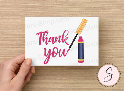 Thank you Lipsense Postcard Business Marketing Card Instant Digital Download Printable