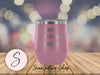 Wine Lipstick Hustle Check - 12 oz Stemless Wine Tumbler | Etched / Engraved Stainless Steel Mug Hot/Cold Cup - 12 Colors Available