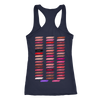 hello gorgeous & Lipsense 50 Shades Lip Color Swatches (Front & Back) - Ladies Racerback Tank Top Women - 4 colors available - PLUS Size XS-2XL MADE IN THE USA