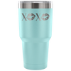XOXO Lips - 30 oz Engraved / Etched Stainless Steel Tumbler Travel Mug | Hot or Cold | 7 Colors Available