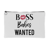 BOSS Babes Wanted Lips -  Travel Makeup Accessory Cosmetic Tote or Money Bag Size: Small or Large