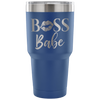 BOSS Babe Lips Lipstick Kiss Print - 30 oz Engraved / Etched Stainless Steel Tumbler Travel Mug | Hot or Cold | 7 Colors Available