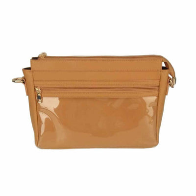 Messenger Display Bag - Waterproof Vegan Leather - Product Advertising Direct Sales Wow Display Shoulder Tote Bag - Crossbody Clutch - Tan