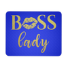 BOSS Lady Lips GOLD - White/Black/Blue - Computer Office Mousepad