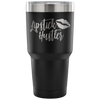 Lipstick Hustler - 30 oz Engraved / Etched Stainless Steel Tumbler Travel Mug | Hot or Cold | 7 Colors Available