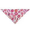 Colorful Lips Lipstick Kisses Pet Bandana for Dog or Cat