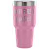 But First, Lipstick - 30 oz Engraved / Etched Stainless Steel Tumbler Travel Mug | Hot or Cold | 7 Colors Available