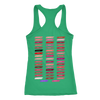 lipBoss (Fleur de Lisa) & Lipsense 50 Shades Lip Color Swatches (Front & Back) - Ladies Racerback Tank Top Women - 4 colors available - PLUS Size XS-2XL MADE IN THE USA