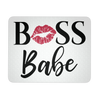 BOSS Babe Lipstick Kiss Print - Computer Office Mousepad