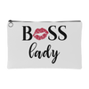 BOSS Lady - Kiss Lips - Travel Makeup Accessory Cosmetic Tote or Money Bag Size: Small or Large