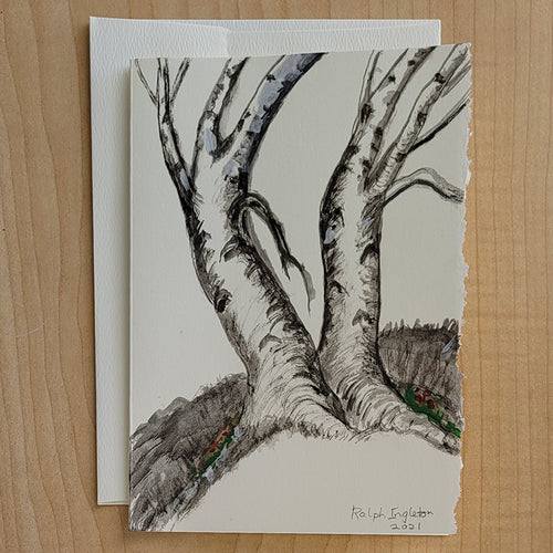 5x7 Hand Painted Card