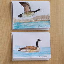 Hand Painted Cards - Set of 2 - Canada Goose