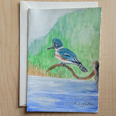 Hand Painted Card - King Fisher