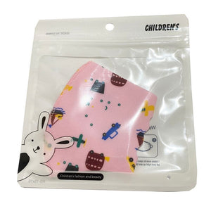 Kids Pink Cars Patterned Face Mask