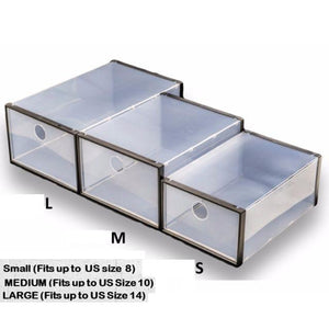 Transparent Collapsible Shoe Box (Set of 6)